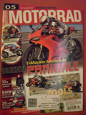 MOTORRAD Zeitschrift 05, Feb.2012 BMW R95 G/S Honda NC Agusta Triumph Kawasaki
