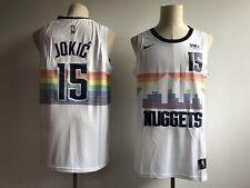 Men's Denver Nuggets #15 Nikola Jokic White City Edition Swingman Jersey