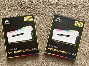 CORSAIR 3600mhzVENGEANCE RGB PRO 32 GB 4 Pieces DDR4 Memory - White
