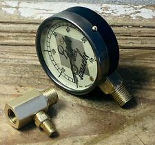 1940's Vintage Brass Pressure Gauge By MOTOMETER, Retro Logo, Antique, Steampunk
