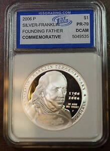 2006 Franklin Founding Father Silver Dollar, Gem Proof