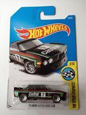 HOT WHEELS'73 BMW 3.0 CSL Castrol auto da corsa nero