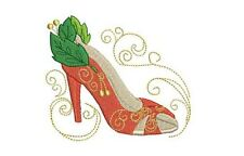 Femmes Fancy Shoes 20 Machine Embroidery Designs