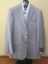 $1295 new Jos A Bank Signature Gold light Grey check suit 40 L 34 W tailored fit