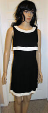 All That Jazz Classic Sexy Little Black & White Dress Size 7/8 Made in the USA