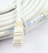 30m RJ45 Cat6 Network Cable Ethernet Snagless LAN UTP Fast Patch Lead WHITE