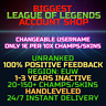 League of Legends Account LOL EUW Handlevel Lvl 30 All Champs Smurf BE Skins Acc