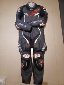 Alpinestars GP Pro Tech Air Black White 1PC CE Leather Motorcycle Race Suit New