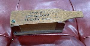 LYNCH FOOL PROOF MODEL NO 101 TURKEY BOX CALL