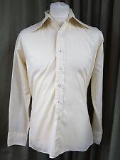 "RARE Original 70s Brutus Fitted Cream Shirt 16"" (4"" Collar) Northern Soul Skin"