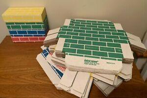 Huge 73 lot Lillian Vernon primary cardboard corrugated jumbo building bricks