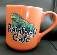 2000 Rainforest Cafe Large Orange Coffee Mug Cup, Iggy, Iguana,16 oz.