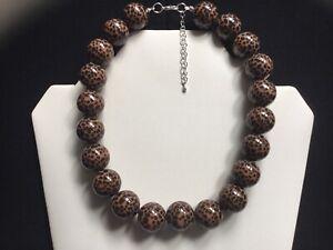 Damen Dicker Tiermotiv Perlen Halsband Halskette