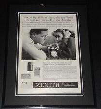 1959 Zenith Pocket Radio 11x14 Framed ORIGINAL Vintage Advertisement