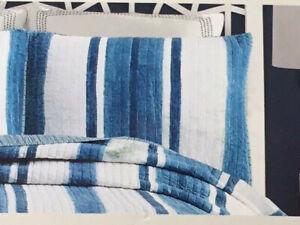 Ayesha Curry King Pillow Sham - Indigo Shibori Blue