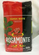 YERBA MATE ROSAMONTE - ONE 2.2 LBS BAG - 1 Kilo - GLUTEN FREE