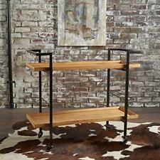 Christopher Knight Home Gerard Industrial Natural Finished Wooden Bar Cart