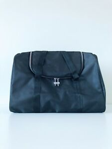 GIORGIO ARMANI Men Black Weekender Duffle Travel GYM Bag with Shoulder Strap