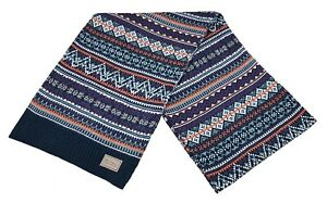 Ben Sherman Fairisle Knitted Scarf Mens Scarves