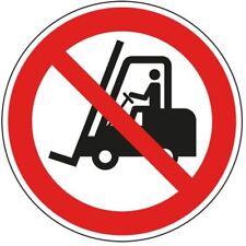Verbotsschild Für Flurförderzeuge verboten ASR/ISO Folie selbstklebend Ø 200mm