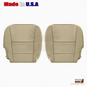 Fits 2013 2014 2015 Acura RDX DRIVER & PASSENGER Bottom Leather Seat Cover Tan