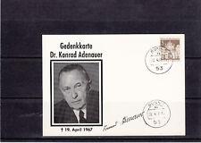 Gedenkkarte  Adenauer