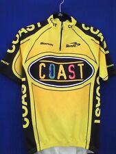 Biemme Bianchi Coast Cycling Jersey Men's Large Half Zipper 3 Pouch Bike Italy