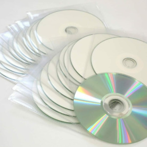 Traxdata Printable CD-R Recordable Inkjet Blank CD's In Sleeves 80 Min 52x 700MB