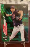 Max Scherzer 2020 Topps Chrome Green Wave Refractor 85/99 Parallel Nationals