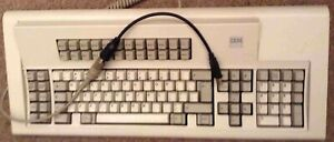 IBM Model M Buckling Spring Clicky Keyboard With adapter/converter to USB -Read