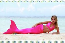 THE2TAILS™ Adult Sparkle Pink Swimmable Mermaid Tail Affordable with Fin