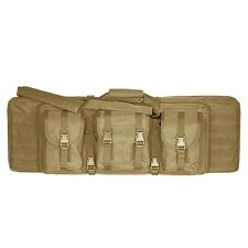 "Voodoo Tactical 36"" Double Padded Double Weapons Rifle Case w/Mag Pouch Coyote"