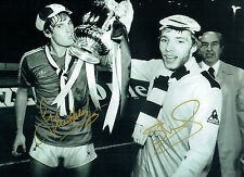 Glenn HODDLE Steve ARCHIBALD Signed Autograph 16x12 SPURS FA Cup Photo AFTAL COA
