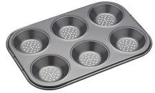 Masterclass Perforated Crusty Bake Non Stick 6 Hole Mince Pie Tart Baking Tray
