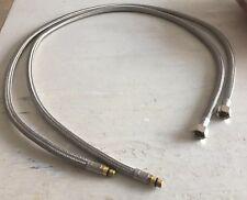 """Par 1/4 M10 X 3/8"""" BSP Hembra Conector Grifo X 1070mm Flexible Trenzado Free P/P"""