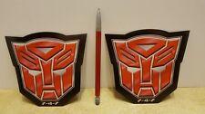 "AUTOBOT Lot of 2 Transformers G1 Logo Car/Refrigerator Magnets 5"""
