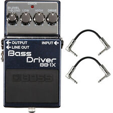 BOSS BB-1X Bass Driver Overdrive Distortion Pedal Stompbox + Patch Cables