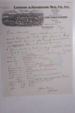 1932 Lamson Goodnow New York NY Letterhead Handwritten Ephemera L929C