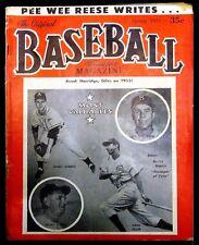 Baseball Magazine - 1953 Spring - Pee Wee Reese Cover; 1952 Yankees Team Photo