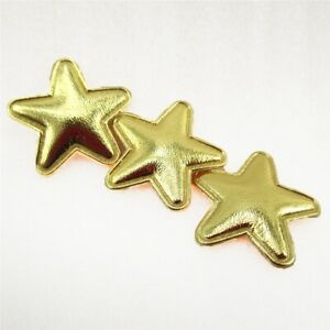 10 x 1 INCH GOLD STAR PADDED APPLIQUE EMBELLISHMENT HEADBANDS BOWS CARD MAKING