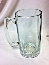 Clear plain huge beer mug drink cocktail glass glassware barware TE4 vintage old