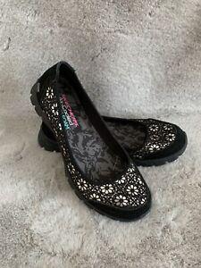 Womens Skechers Memory Foam Black Walking Shoes Size UK 5