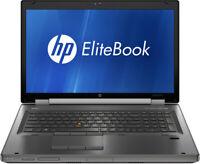 """HP 8760w Elitebook Workstation 2.5GHz 3.2GHz i5 8GB 320GB 17"""" Nvidia 3000M FHD"""