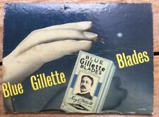 Original (Real) Gillette Blue Blades Advertising on Board C1950s