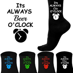 "Personalised Socks - ""It's Always Beer O'Clock"" - Funny Novelty Men's Socks"