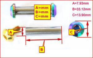 1x set Titanium Fasteners Rear Shock Absorbers Nuts Flange Bolts JP8/JXP/FA073