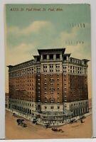 St Paul Minnesota ST. PAUL HOTEL 1912 Postcard G13