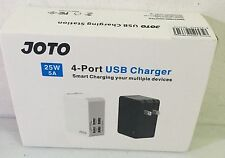 JOTO 4 Ports USB Wall Charger Power Adapter 25W/5A with Smart IC Intelligent USB