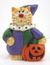 Midwest Of Cannon Falls Eddie Walker Halloween Figure Cat In Clown Costume Nos