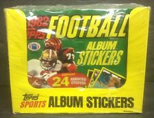 1982 Topps Football Album Stickers Full Box of 24 Jumbo Packs (24/ Pack)